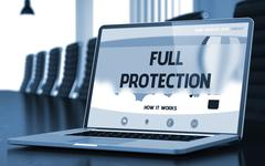 Full Protection on Laptop in Meeting Room Stock Illustration