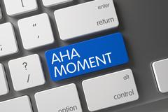 Aha Moment CloseUp of Keyboard Stock Illustration