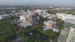 Aerial university Thailand 4k Stock Footage