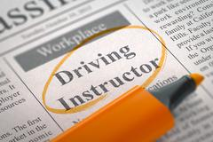 Driving Instructor Join Our Team Stock Illustration