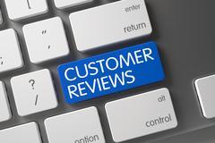 Customer Reviews CloseUp of Keyboard Stock Illustration