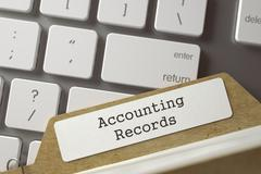 Folder Register with Accounting Records Stock Illustration