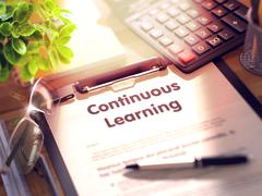 Continuous Learning on Clipboard Stock Illustration