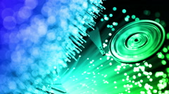 Pc hard disk with Fiber optics background, shot in HD Stock Footage
