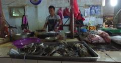 Village Asian market Stock Footage