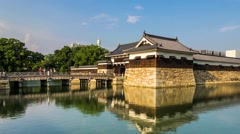 Hiroshima Castle, Japan - Timelapse Stock Footage