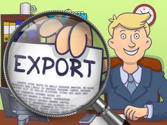 Export through Lens. Doodle Concept Stock Illustration