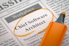 Job Opening Chief Software Architect Stock Illustration