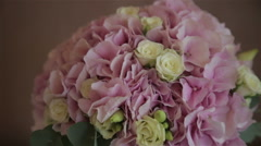 Wedding bouquet of the bride Stock Footage