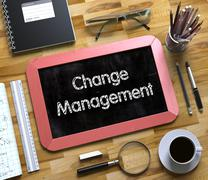 Small Chalkboard with Change Management Stock Illustration