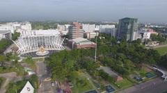 Thai university aerial front 4k Stock Footage