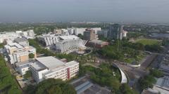 Thailand university aerial 4k Stock Footage