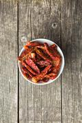 healthy dried tomatoes - stock photo