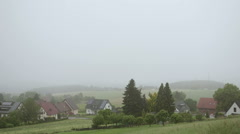 View of the Rural Life in the Mist Stock Footage