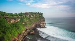 Time Lapse View of Uluwatu Temple in Bali, Indonesia - Zoom In Stock Footage