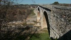 The pont Julien bridge, Provence, France Stock Footage