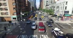 Daytime Aerial View of Manhattan from Roosevelt Island Tram Stock Footage