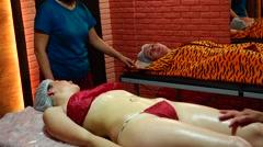 Beautiful sexy girl in the spa salon. Massage. Health. Medicine. Stock Footage