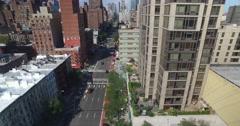 Daytime Aerial View of Manhattan from Roosevelt Island Tram Stock Footage