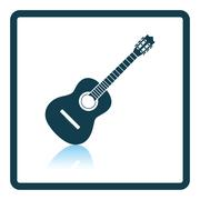 Acoustic guitar icon Piirros