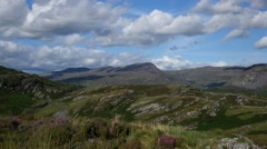 Welsh Mountains Scenic View, Wales Stock Footage