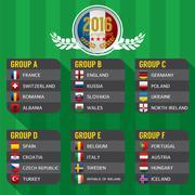 2016 European Football Tournament Vector Illustration Stock Illustration