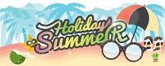Summer Holiday Banner Summer Vacation Concept Vector Illustration 1500x600 px Piirros