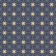 Vintage Flowers Graphic On Navy Blue Background Pattern Vector Illustration Stock Illustration