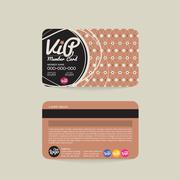 Front And Back VIP Member Card Template Vector Illustration Stock Illustration