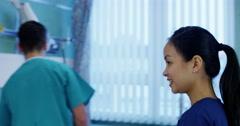 Attractive young nurse Stock Footage