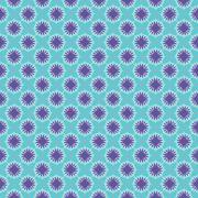 Seamless Pattern Vintage Purple Green Turquoise Background Vector Illustratio Stock Illustration