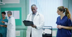Medical staff working together Stock Footage