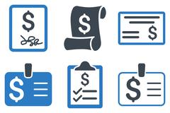 Payment Cheque Flat Vector Icons Stock Illustration