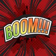 BOOM! Wording Sound Effect for Comic Speech Bubble Vector Illustration Stock Illustration