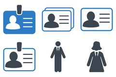 Person Account Card Flat Vector Icons Stock Illustration