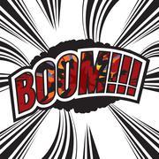 Boom Comic Sound Effect Vector Illustration Stock Illustration