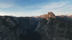 Afternoon shot of half dome from glacier point in yosemite national park Stock Footage