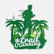 Trail Running Vector Illustration Stock Illustration