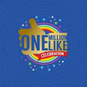 One Million Likes Celebration Vector Illustration Stock Illustration