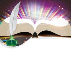 Book and feather Piirros