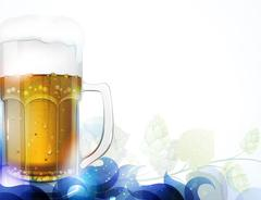 Beer and hop Stock Illustration