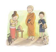 Buddhist's Day Stock Illustration