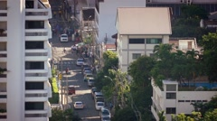Sunny City Road In Tropical Country Stock Footage