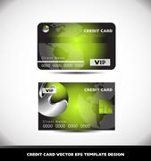 Green metal sphere Vip credit card vector template Stock Illustration