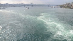 Ferry are moving fast in Istanbul, Turkey. Stock Footage