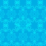 Mandala seamless, tribal vintage background with a medallion. Pattern with Stock Illustration