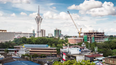 Alor Setar Top View to Menara Day Light. Stock Footage