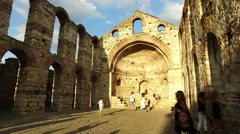 The ancient Church of St. Sophia in Nessebar Stock Footage
