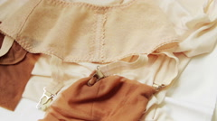 Vintage underwear of a soviet woman Arkistovideo