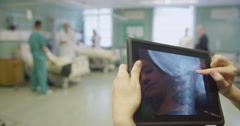 Hospital staff are doing their rounds Stock Footage
